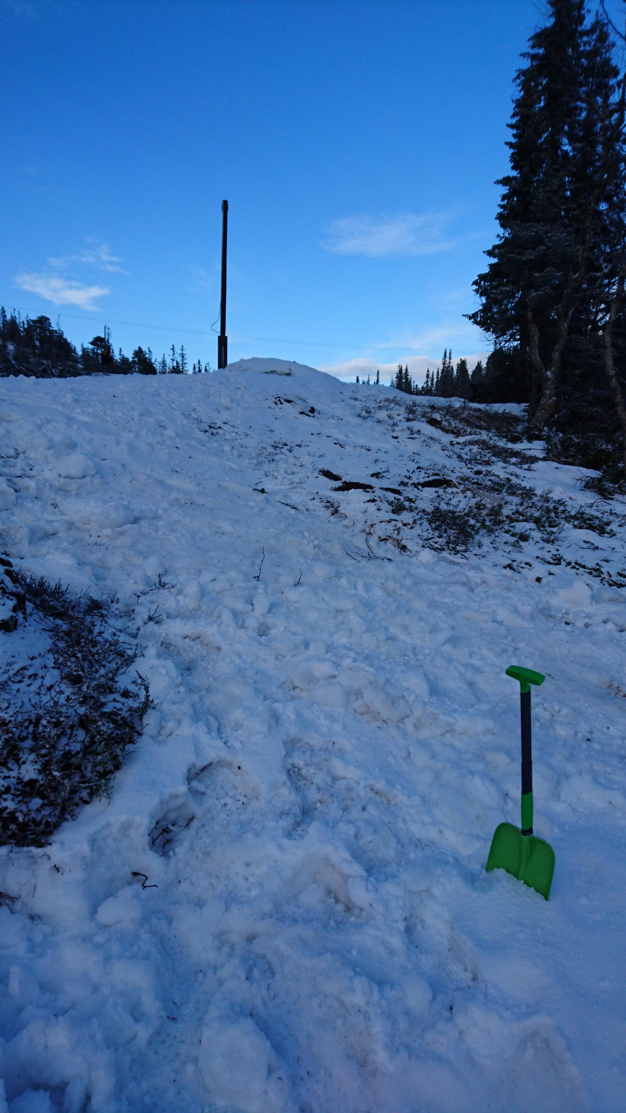 Denne bakken skal forseres både oppover og nedover før 1 km etter start/før runding