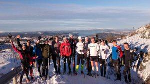 Sol, snø og godt humør - vi manglet bare ski på beina!